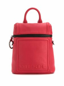 Diesel Compact leather backpack - Red