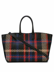 Akris woven plaid shoulder bag - Black