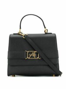 Alberta Ferretti logo plaque tote bag - Black