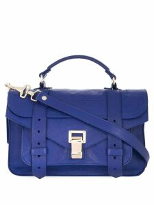 Proenza Schouler Ps1 Tiny-Lux satchel - Blue