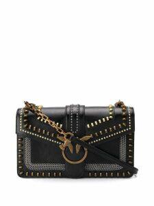 Pinko Love studded shoulder bag - Black