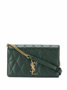 Saint Laurent quilted shoulder bag - Green