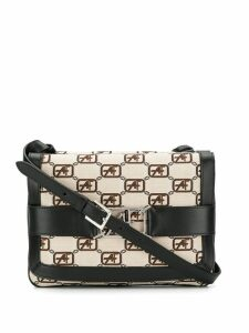 Alberta Ferretti logo crossbody bag - Neutrals