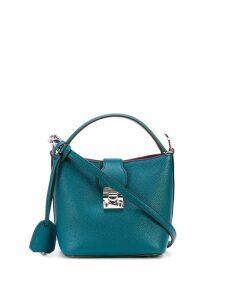 Mark Cross Murphy mini bucket bag - Blue