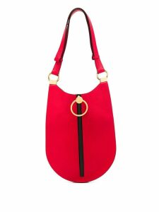 Marni ring zipped shoulder bag - Red