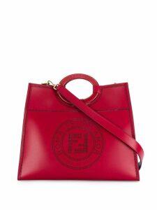 Fendi medium Runaway perforated tote - Red