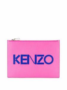 Kenzo logo print pouch - Pink