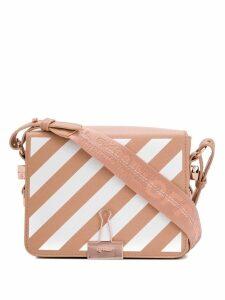 Off-White Diagonal Binder crossbody bag - Pink