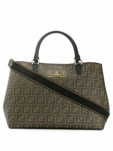 Fendi FF logo shopper tote - Brown