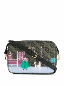 Liu Jo Eiffel Tower print shoulder bag - Green