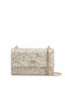Jimmy Choo Leni glitter shoulder bag - Gold