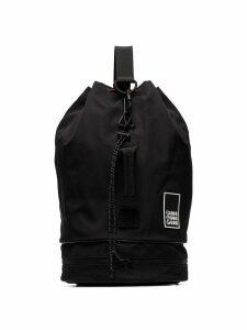Ganni triple-strap drawstring backpack - Black