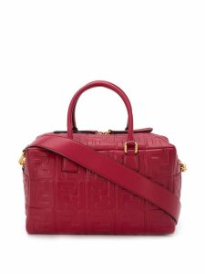 Fendi small Boston FF motif bag - Red