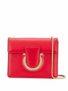 Salvatore Ferragamo Gancini Flap Bag - Red