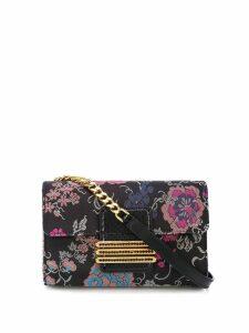Etro floral pattern clutch bag - Black