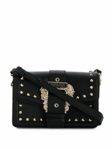 Versace Jeans Couture embossed buckle tote - Black