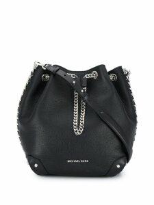 Michael Michael Kors logo plaque bucket bag - Black