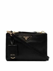Prada Etiquette double-zip cross-body bag - Black