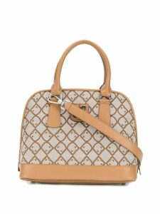 Furla all-over logo tote - Neutrals