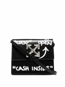 Off-White Jitney 0.7 Cash Inside crossbody bag - Black