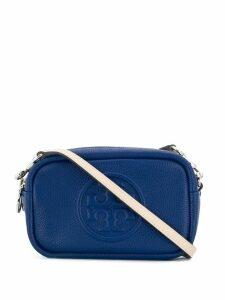 Tory Burch logo embossed camera bag - Blue