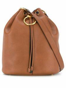 Marni drawstring bucket bag - Brown