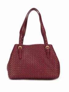 Bottega Veneta Intrecciato shoulder bag - Red