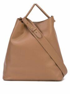 Elleme oversized satchel bag - Brown