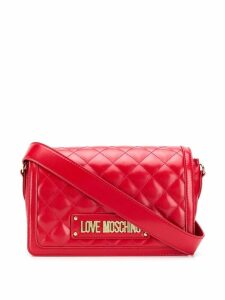Love Moschino logo quilted bag - Red