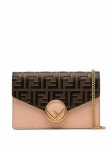 Fendi FF pattern shoulder bag - Pink