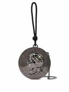 Oscar de la Renta coin-shaped clutch - Grey