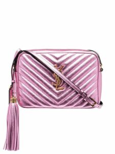 Saint Laurent medium Lou satchel bag - Pink