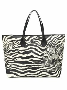 Just Cavalli large zebra print tote - Black