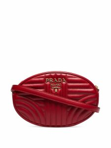 Prada Diagramme oval shoulder bag - Red