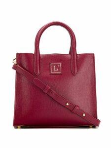 L'Autre Chose small logo patch tote bag - Red