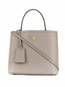 Prada Double Saffiano leather bag - Grey