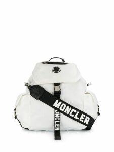 Moncler logo strap backpack - White