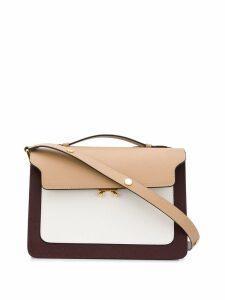 Marni saffiano leather Trunk bag - Neutrals
