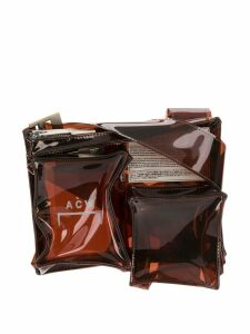 A-Cold-Wall* transparent multi pocket bag - Brown
