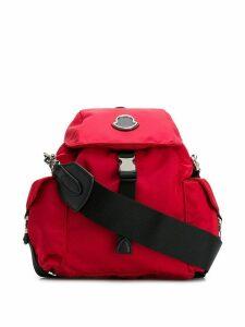 Moncler logo backpack - Red