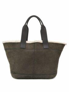Brunello Cucinelli shearling tote bag - Green