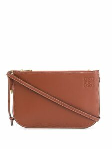 Loewe double zip crossbody bag - Brown