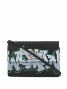 Off-White Jitney graffiti bag - Black