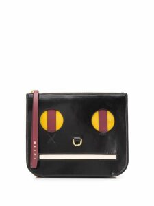 Marni face clutch bag - Black