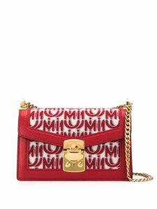 Miu Miu Miu Confidential jacquard shoulder bag - Red