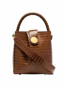 Elleme Buck croc-effect shoulder bag - Brown