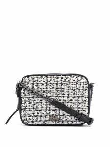 Karl Lagerfeld K/Kuilted tweed camera bag - Black