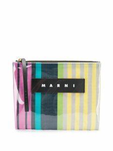 Marni striped clutch - Grey