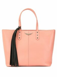 Zadig & Voltaire Mich grained tote bag - Pink