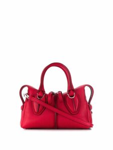 Tod's top zipped tote - Red